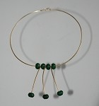 Sculpted 14k Gold-Filled and Jade Geometric Necklace