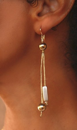Balancing Act Double Strand Earrings