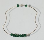 Sculpted 14k Gold-Filled and Jade Necklace